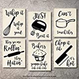 Home Decor Funny Gift 6 Kitchen Wall Art Prints