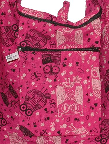 Pinkblack Hippie Cute Bohemian Purse Crossbody Boho Shoulder Owl Bag Hobo PAfqqg