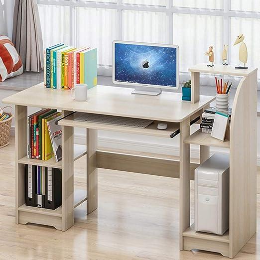 Oficina Escritorio de computadora Con cajones y estantes,Madera ...
