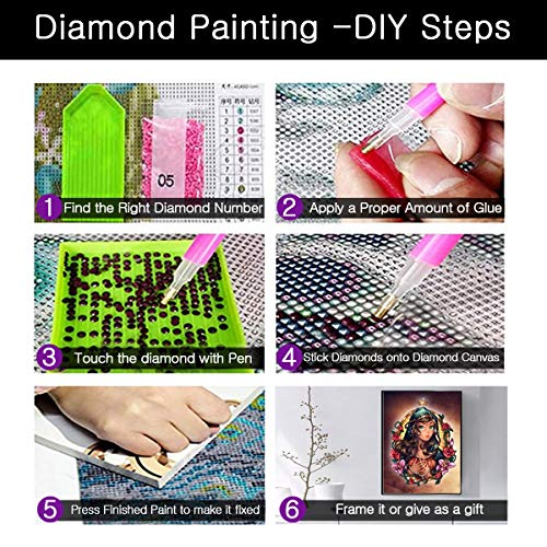 NEILDEN Diamond Art,DIY 5D Diamond Painting Kits for Adults with Full Round Drill,Perfect for Gifts and Home Wall Decor 12\