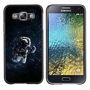 LECELL--Funda protectora / Cubierta / Piel For Samsung Galaxy E5 E500 -- Espacio psicodélico Astronauta --