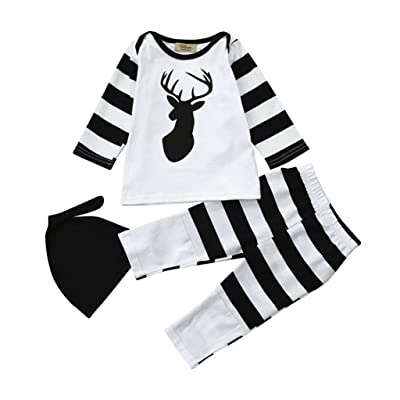 Memela Shop The Look (TM) 3 Pieces Infant Baby Long Sleeve Clothing Set Outfits 0-24 mos