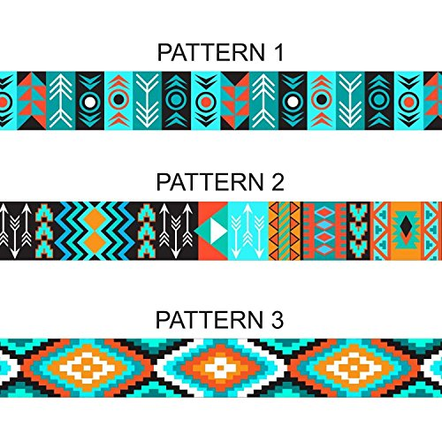 Image of CollarDirect Nylon Dog Collar with Metal Buckle Tribal Pattern Puppy Adjustable Collars for Small Dogs (Pattern 2, Neck Fit 7