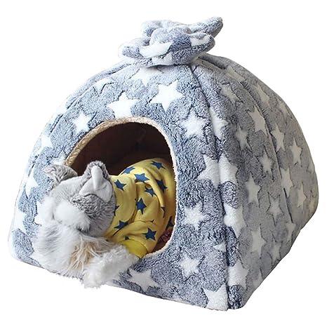SuyunPP Nido De Gato Four Seasons Dog Nest Casa De Gato Yurta Extraíble Y Lavable Totalmente
