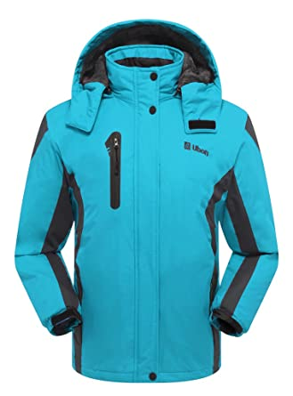 Amazon.com: Ubon Womens Waterproof Windproof Snow Fleece Jacket ...