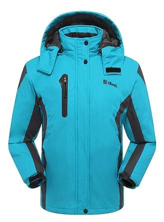 Amazon.com: Ubon Womens Waterproof Windproof Snow Fleece Jacket ...