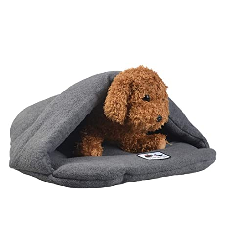 Krastal Dog Bed Cute Slipper Design Soft Fleece Winter Warm Pet Small Dog Cat Sleeping Bag