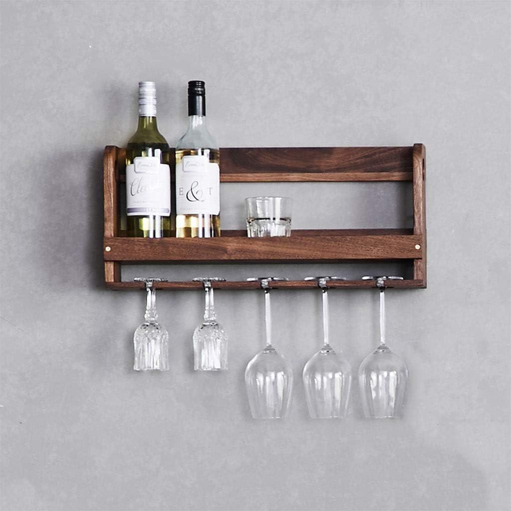 ヨーロッパのクリエイティブワインラックキッチン壁掛けワインラックバー木製組立ワインラックカウンターのワインラック L20.02.07 (Size : A)