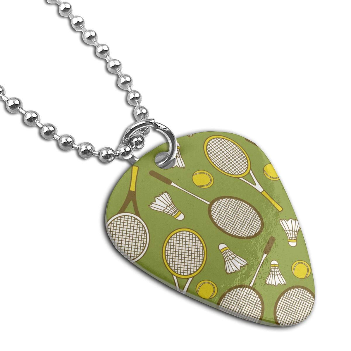 Tennis Badminton Custom Guitar Pick Pendant Necklace Keychain