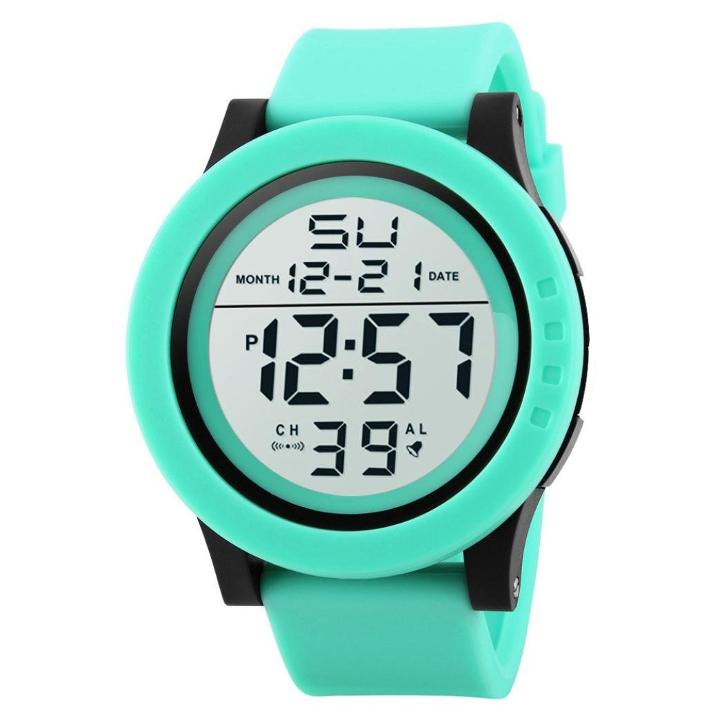 Amazon.com: Ikevan HONHX Digital Sports Watch--Fashion Mens LED Waterproof Digital Quartz Military Luxury Sport Date Watches (Green): Watches