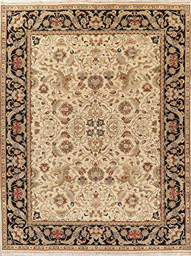 - Agra Oriental Area Rug Wool Hand-Knotted Floral All-Over 9X12 Indian Carpet New