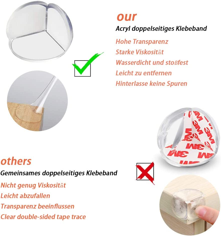 Direekids 24pcs Protector Esquinas Bebes Protege Esquinas para Ni/ños Mesas Para Muebles Ni/ños Cubre Esquinas Para Bebes Bordes Para Mesas Transparente 24-pack