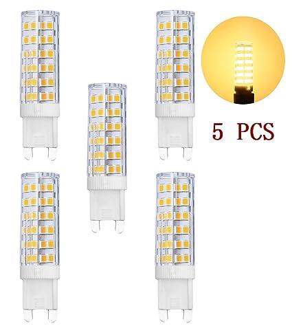 Bombillas LED G9, MENTA, 7 W, luz blanca cálida, 3000 K,