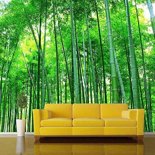 Ljunj カスタム3D壁画壁紙リビングルームベッドルームテレビ背景竹林風景壁画-280X200Cm