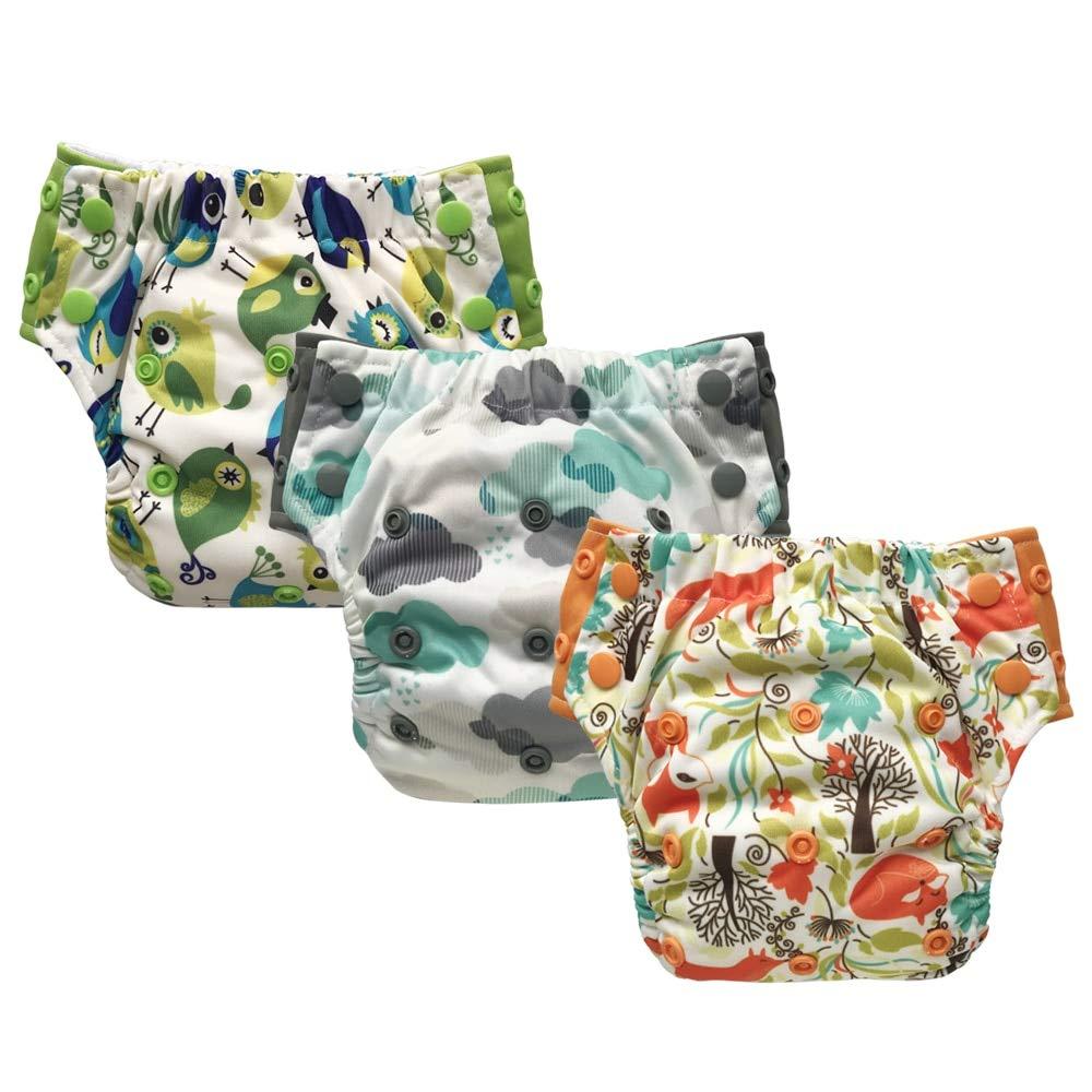 Reusable Training Pants or Reusable Swim Diaper Hybrid Cloth Diaper Newborn Baby to 10 Years