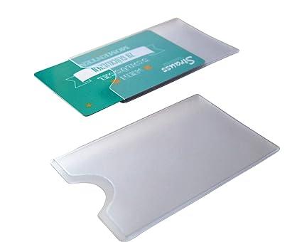 10 fundas de plástico rígido para tarjetas de crédito, color ...