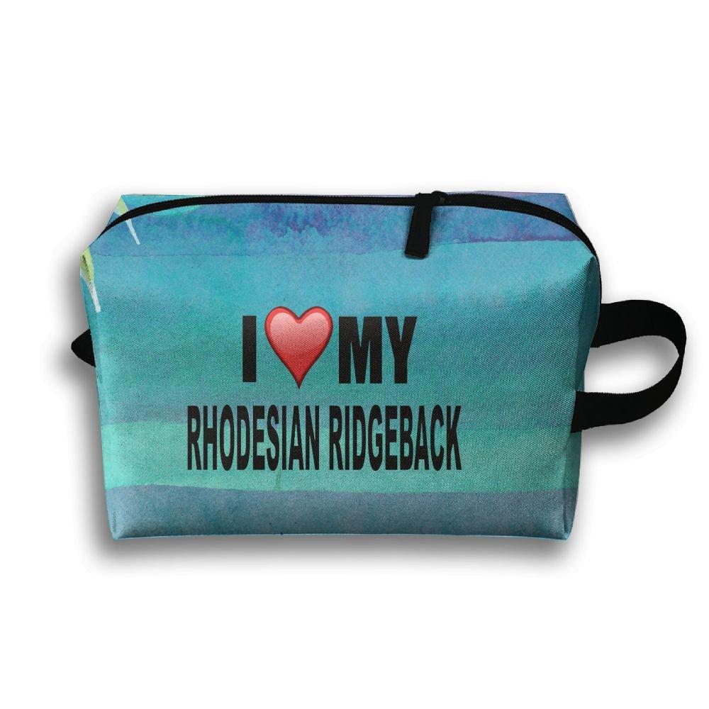 I Love My Rhodesian Ridgeback Travel Bag Multifunction Portable Toiletry Bag Organizer Storage