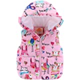 Mud Kingdom Cute Little Girls Vests Outerwear with Hood Animal