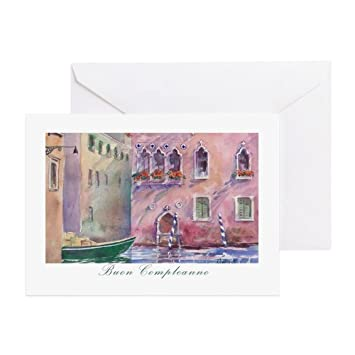 Amazon cafepress venice italian birthday card greeting cafepress venice italian birthday card greeting card note card birthday card bookmarktalkfo