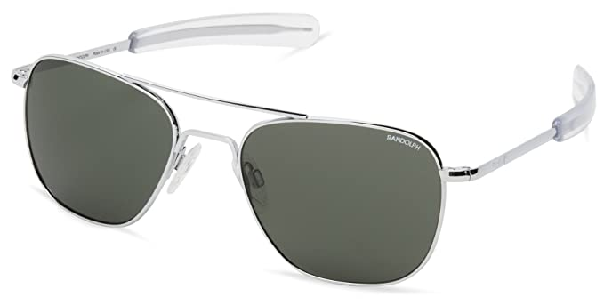 e6781affdc Randolph Engineering Aviator Bright Chrome Sunglasses - AGX Green Bayonet  58MM  Amazon.co.uk  Clothing