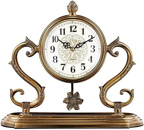 JBP max Reloj de jardín Soporte Reloj no Tic-TAC Reloj de Metal Retro Reloj Creativo de Viaje Reloj de la batería de la Sala de Estar Reloj-JBP3: Amazon.es: Hogar