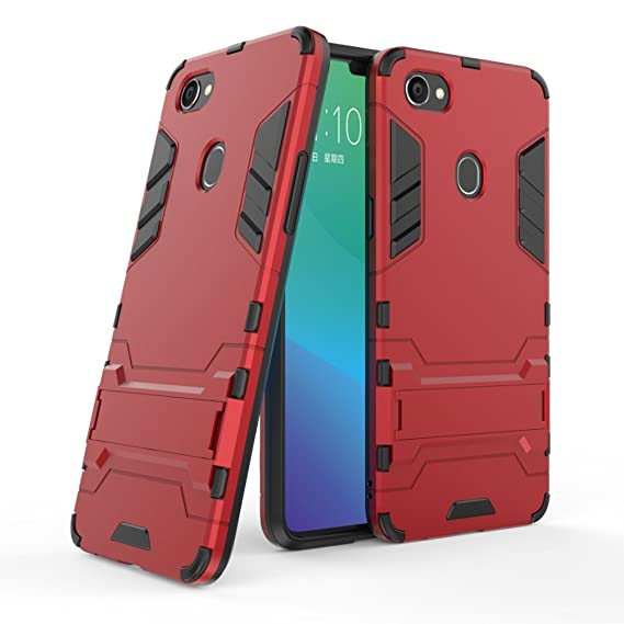 low cost f5b64 0d1cf Amazon.com: Oppo F7 Case+ Screen Protector, ZLDECO Shockproof Hard ...