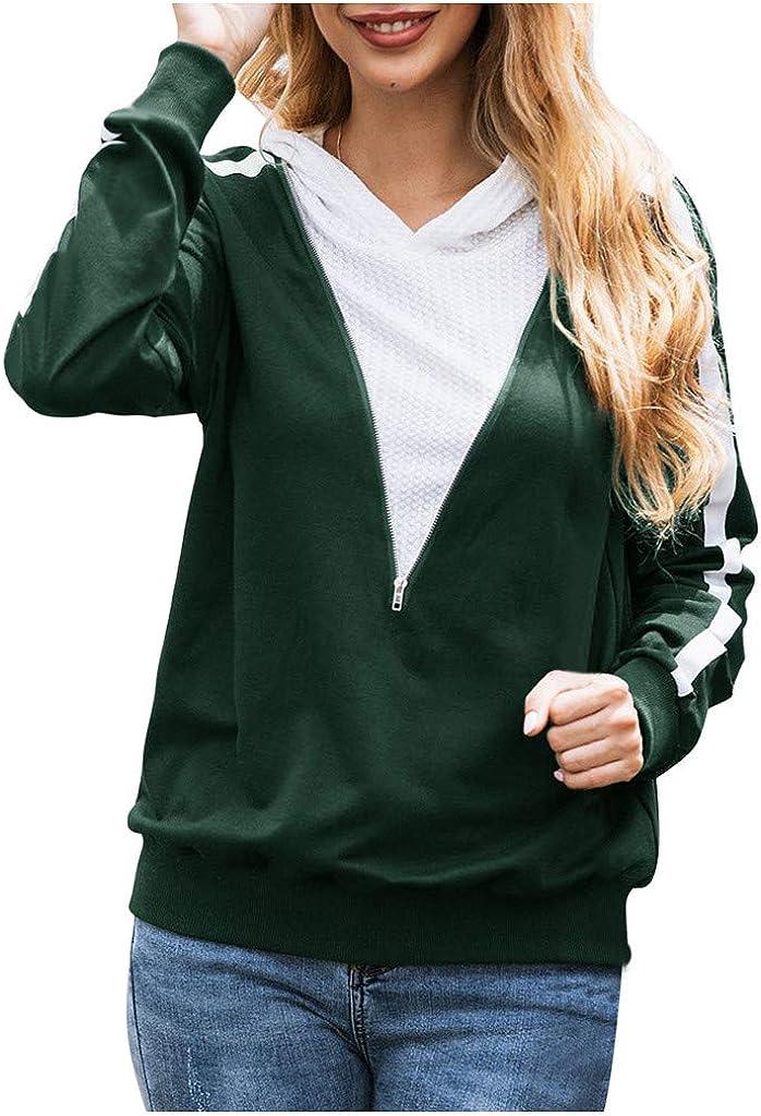 Anvil Ladies Full Zip Hooded Sweatshirt Regular Jumper Plain Hoodie Causal TOP