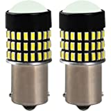 12V-24V車用 BA15S P21W 1156 S25 G18 LEDバルブ LEDライト LEDランプ78連3014SMD シングル 汎用 変換 超高輝度 ホワイト 6000-6500K(2個セット)