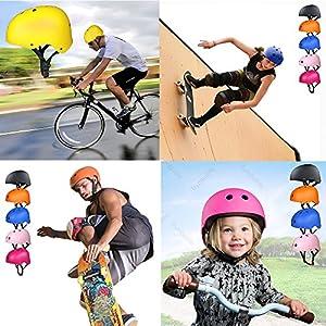 Casque de Kit de Protections 6 pièces Casque de BMX Pads Genouillères de coude avec des protège-Poignets pour Patin, vélo, Skateboard, Scooter