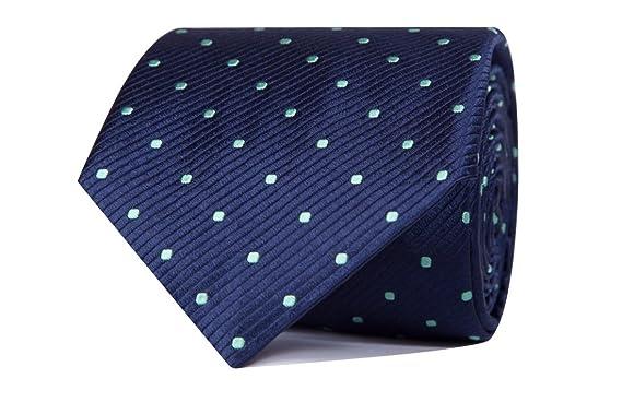 SoloGemelos - Corbata Lunares - Azul Verde - Hombres - Talla Unica ...