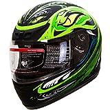 IV2 Serpent Green Full Face Street Bike Motorcycle Helmet [DOT] - Large