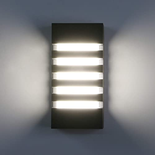 Pathson Outdoor Wall Sconce 12W LED Waterproof Wall Light Fixture 4000K White Light Modern Bar Wall Lamp