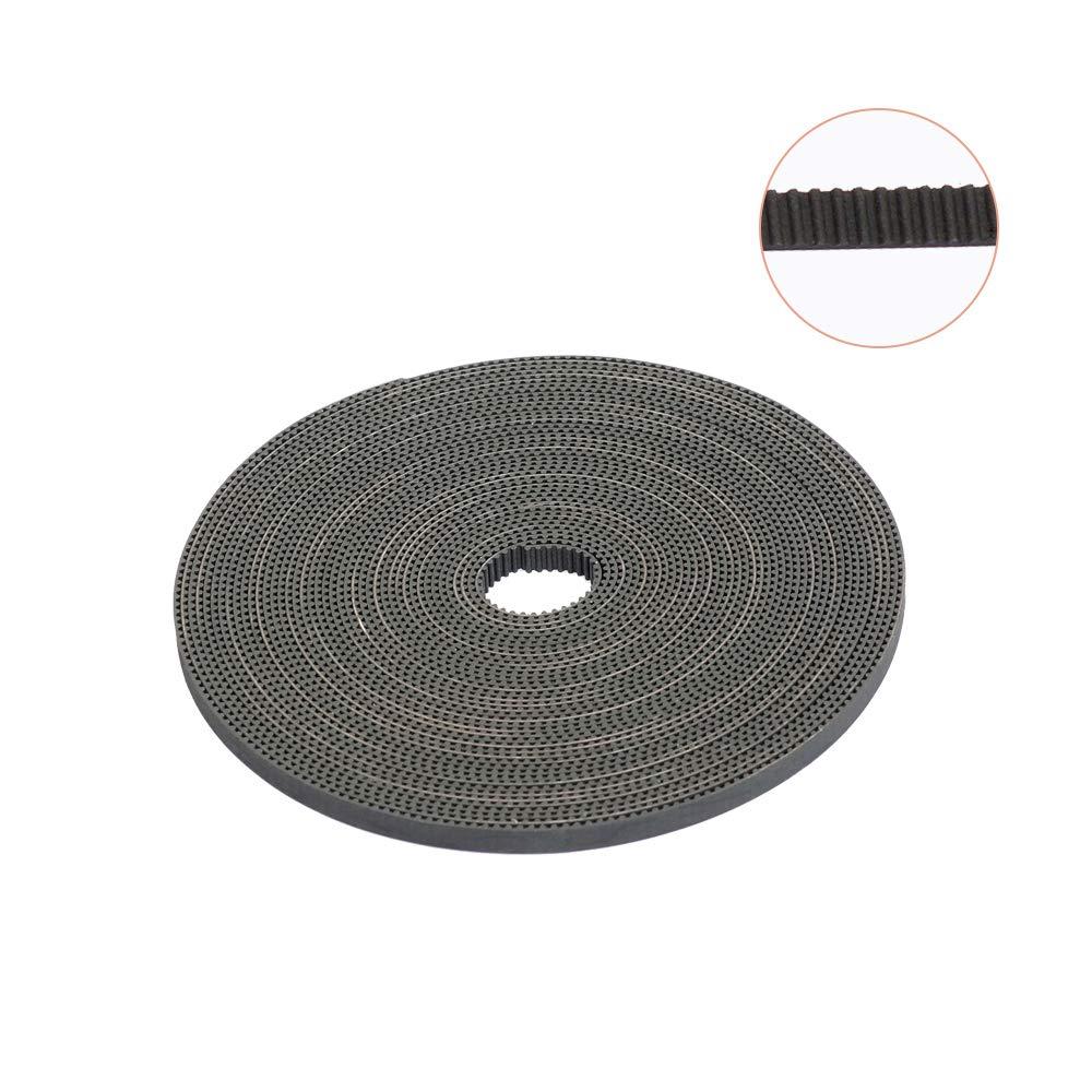 3D Printing Belt, FYSETC 10 Meters (33ft) GT2 Open Timing Belt 2mm Pitch 6mm Width Rubber Fiberglass Fit for RepRap Prusa Mendel Rostock CR-10 Ender 3 3D Printers - Black Fuyuansheng