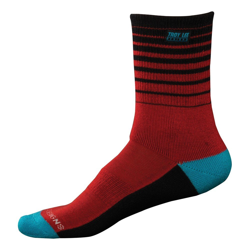 Troy Lee Designs Adult Camber Socks, Red, Size 10-13