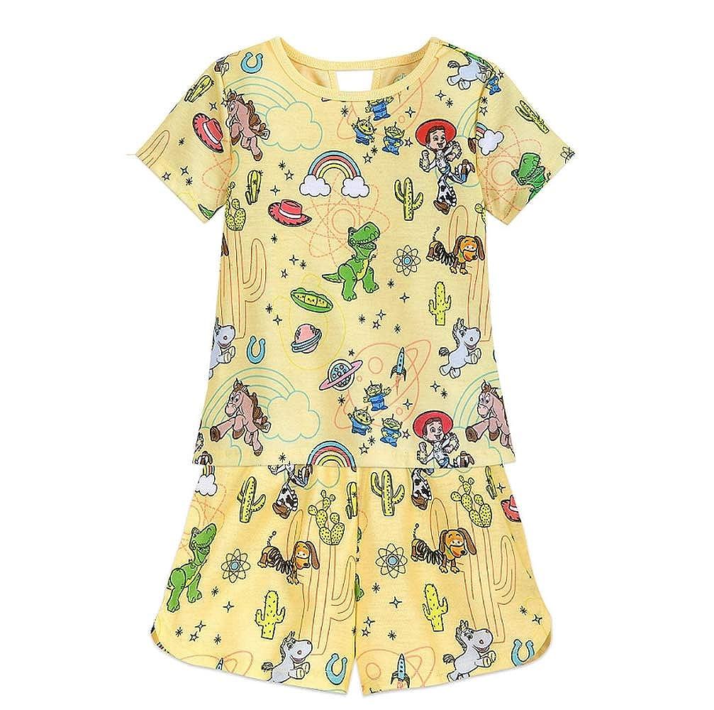 Toy Story Girls Jessie Bullseye Yellow Pajama Shorts Set