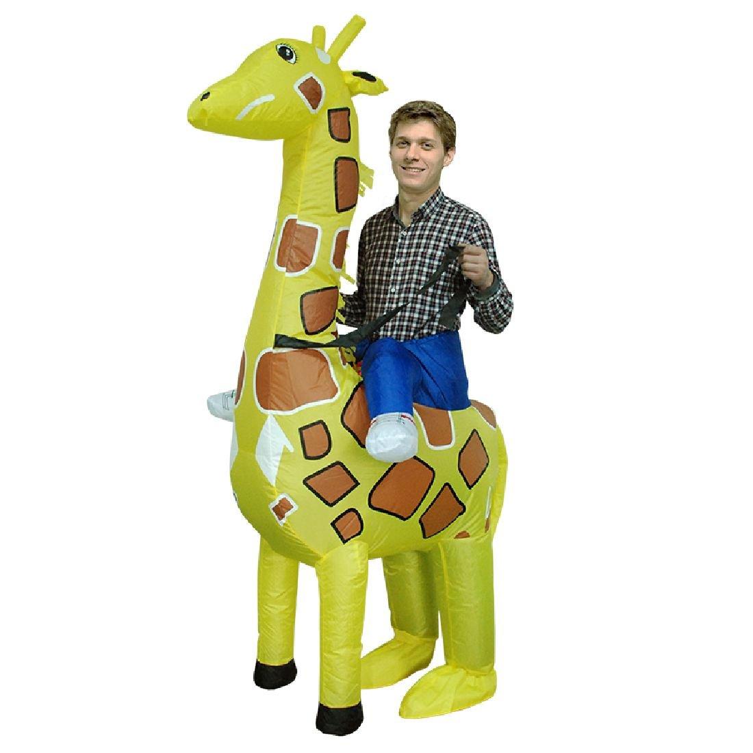 Adult Ride Giraffe Costume Woman Cosplay Giraffe Inflatable Dress Up