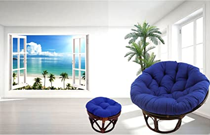 Astonishing Amazon Com American Rattan 2 Piece Papasan Chair And Onthecornerstone Fun Painted Chair Ideas Images Onthecornerstoneorg