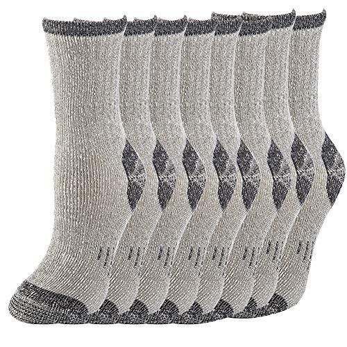 Thermal 70% Merino Wool Crew Socks Hiking Women - NEVSNEV Warm Socks for Women Athletic Socks for Hiking Skiing Trekking Camping 4 Pack