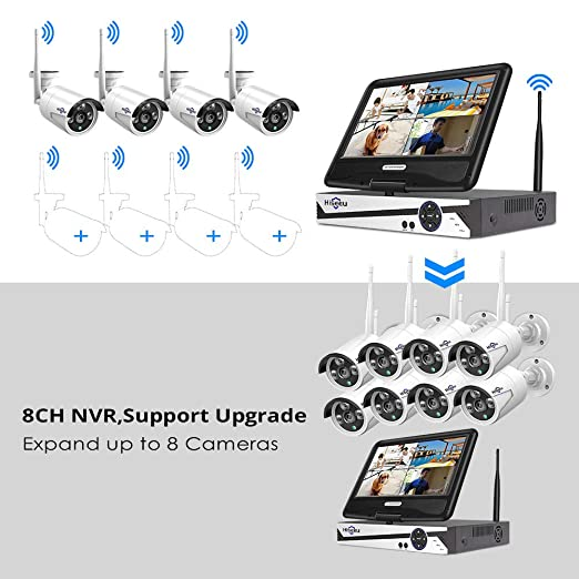 Amazon.com: WKITHB612-V Sistema de cámaras de seguridad ...