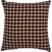 1 Piece 16x16 Navy Blue Plaid Throw PIllow, Lake House Cabin Lodge Themed Pillows, Madras Tartan Rugby Lumberjack Striped Pattern Checkered Check Checker Hoirzontal Vertical Stripes Vintage, Cotton
