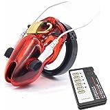 Yocitoy Electric Shock Peniskäfig, Short-Typ Keuschheitsgürtel für Männer Keuschheit Rot (Inkl. aller 5 Cockringe und Energieversorgung)