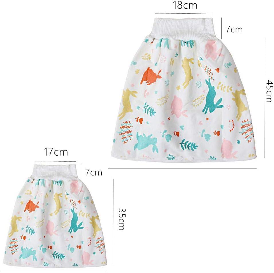 Cover Baby Windel Rock Stoffwindeln Cartoon Motiv Hoch Taillierter Stoffwindeln Trainingsrock Auslaufsicherer Mehrwegwindeln A, M:0-4 Jahre