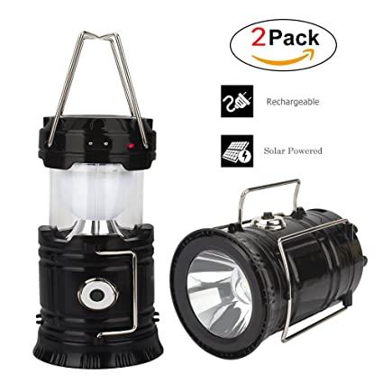 Amazon solar camping lantern led lantern flashlight solar camping lantern led lantern flashlight collapsible rechargeable lantern lights ultra bright for outdoor aloadofball Image collections