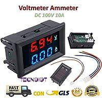 TECNOIOT DC voltímetro amperímetro Azul 100V 10A