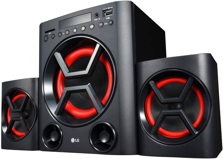 LG XBOOM LK72B - Conjunto de Altavoces 2.1 (40 W, Bluetooth, USB, Ranura Tarjeta SD, Ecualizador, Bass Blast+, Mando a distancia, Montaje en Pared) ...
