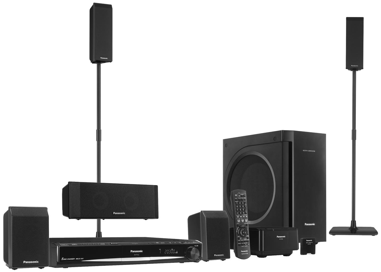 panasonic home theater. Amazon.com: Panasonic SC-PT760 Deluxe 5 DVD Home Theater System (Discontinued By Manufacturer): Audio \u0026