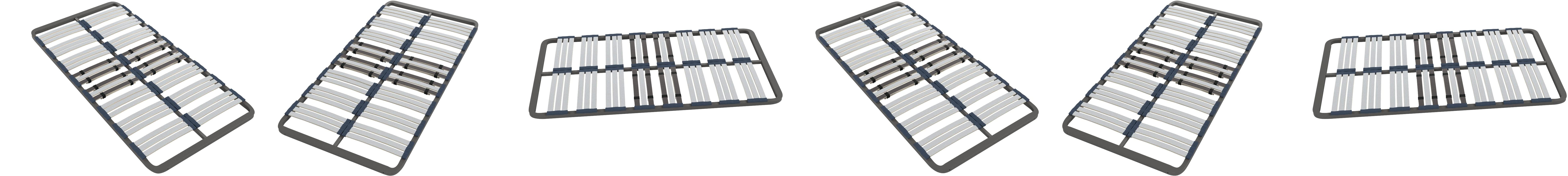 HOGAR24 Somier Multiláminas con Reguladores Lumbares, Sin Patas, Acero, 90x180cm
