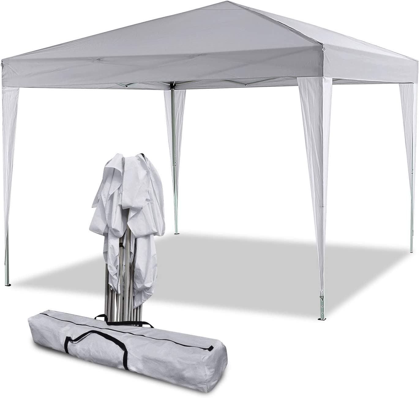 Smibie Tenda Padiglione Pieghevoli Impermeabile 3x3m//3x6m Tenda per tettoia pergola Pieghevole con pareti Laterali e finestre per Feste Eventi di Nozze nel Giardino Patio Esterno 3M*3M, Bianco