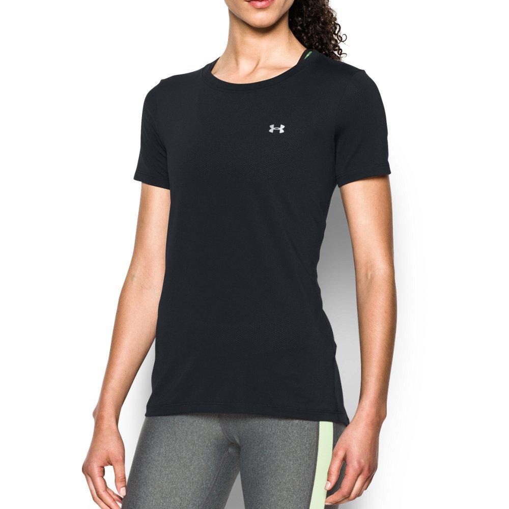 Under Armour Women's HeatGear Armour Short Sleeve, Black (001), X-Small