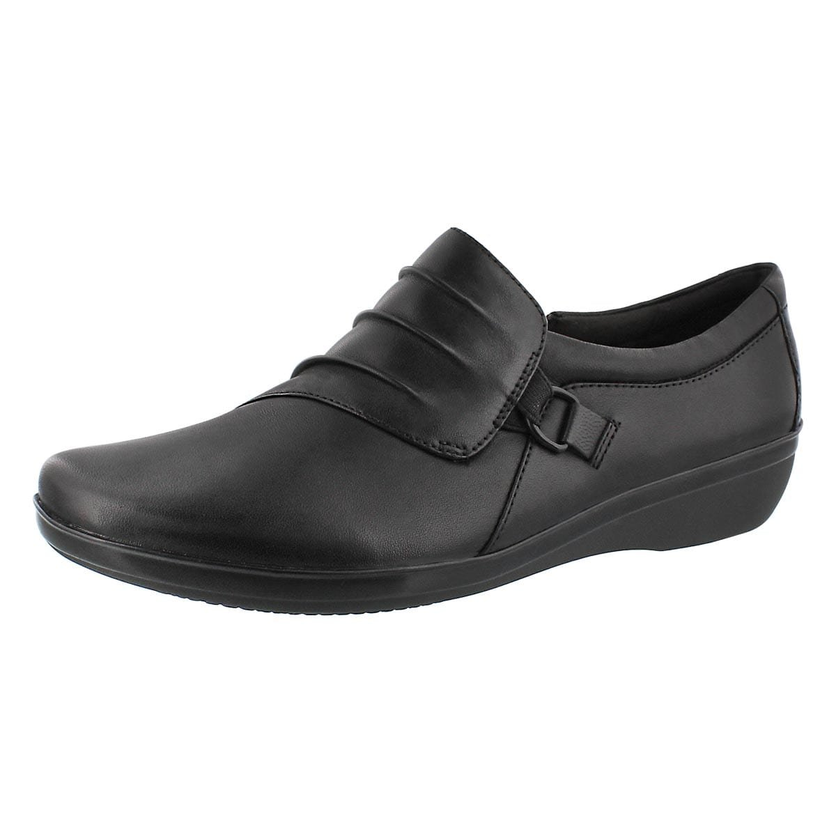 CLARKS Women's Everlay Heidi Casual Slip On - Wide Black 8.5 W US